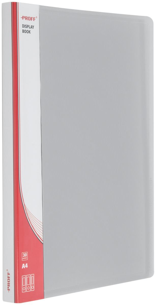 Proff Папка для бумаг Ultra с 30 файлами формат A4 цвет серый03-0719Папка Proff. Ultra предназначена для бумаг форматаA4. Папка содержит тридцать вкладышей. Она исполнена в сером цвете. Она полупрозрачная, внутри есть карман для заметок. Папка изготовлена из высококачественного полипропилена.