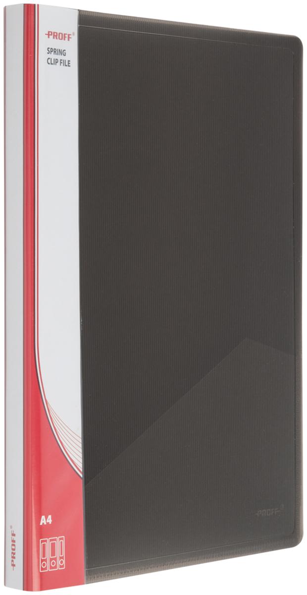 Proff Папка-скоросшиватель Ultra формат A4 цвет черный03-0731Папка Proff. Ultra предназначена для хранения документов формата A4. Также она подойдет и для транспортировки бумаг. Она исполнена в классическом строгом черном цвете. Папка содержит боковые пружинный скоросшиватель и внутренний карман для заметок. Изготовлена папка из высококачественного полипропилена.