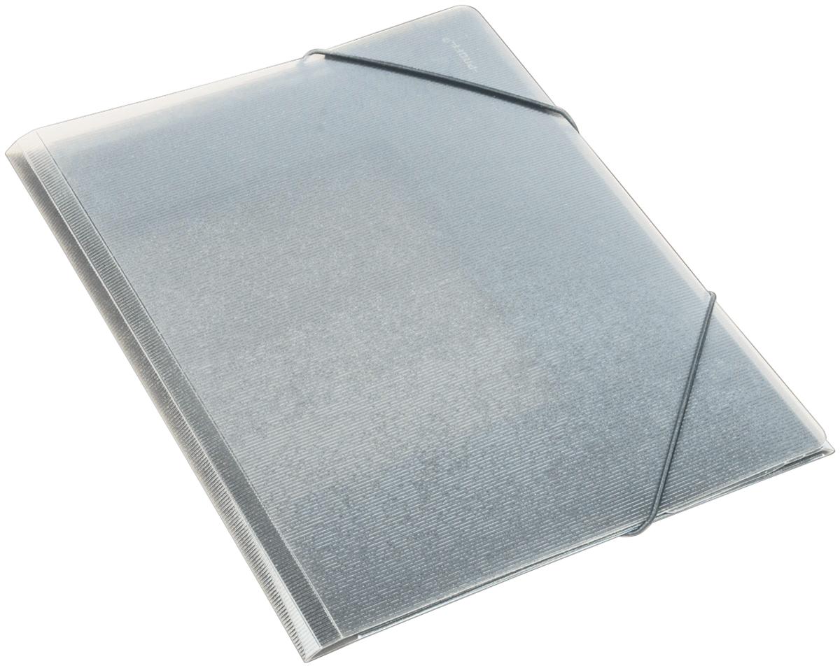 Proff Папка для бумаг Ultra на резинке формат A4 цвет серый папка proff next а4 0 40 0 70 мм пластиковая полупрозрачная синяя с резинкой