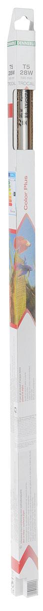 Лампа люминесцентная Dennerle Color Plus, Т5, 28 Вт, длина 59 смDEN2925Люминесцентная лампа Dennerle Color Plus интенсивно усиливает краски в пресноводных аквариумах, особенно красные, оранжевые и синие оттенки цвета, целенаправленно подчеркивает естественную окраску рыб и растений. Покрыта UV-стоп защитной пленкой для предотвращения роста водорослей. С экстрасильными цветовыми пиками Color-Peaks в красной и синей зонах спектра для интенсивной подсветки красок. Идеально комбинируется с лампой Trocal T5 Amazon-Day. Изготовлена по новейшей технологии Longlife-Technik, что гарантирует свыше 10000 часов работы. Мощность: 28 ватт. Длина: 590 мм.
