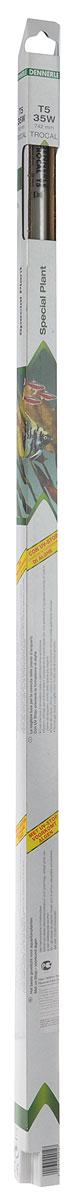 Лампа люминесцентная Dennerle Special Plant, Т5, 35 Вт, длина 74,2 смDEN2914Люминесцентная лампа Dennerle  Special Plant создает оптимальные условия освещения для растений без содействия росту водорослей. Лампа имеет : Превосходный свет для роста аквариумных растений.С защитной пленкой против ультрафиолета UV-STOP (профилактика против водорослей). Создаёт тёплую, особенно гармоничную световую атмосферу в аквариуме. Оптимальный спектр для фотосинтеза и идеальная цветовая температура для великолепного, пышного роста любых аквариумных растений, даже требовательных. Степень цветопередачи: прекрасно - подчёркивает естественную красоту рыб и растений. Технология TROCAL Long-Life: более 10000 часов работы. Мощность: 35 ВтДлина 742 мм.