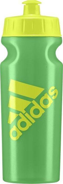 Бутылка для воды Adidas Perf Bottl, цвет: зеленый, желтый, 500 млBR6788Спортивная бутылка объемом 500 мл.