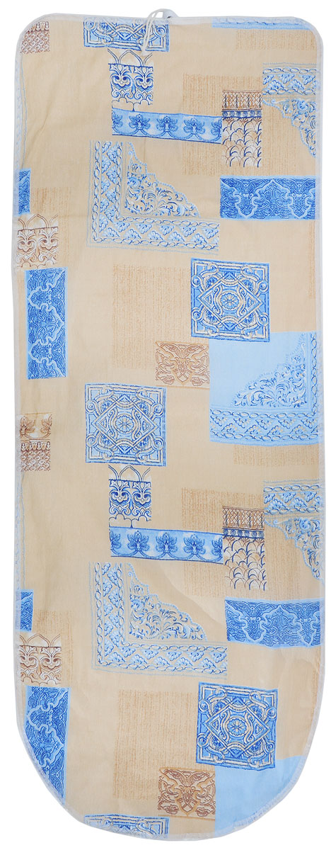 Чехол для гладильной доски Detalle, универсальный, цвет: синий, коричневый, 125 х 47 смЕ1301_синий, коричневыйУниверсальный чехол для гладильной доски Detalle, выполненный из хлопка с подкладкой из мягкого войлокообразного полотна (ПЭФ), предназначен для защиты или замены изношенного покрытия гладильной доски. Чехол снабжен стягивающим шнуром, при помощи которого вы легко отрегулируете оптимальное натяжение чехла и зафиксируете его на рабочей поверхности гладильной доски.Из войлокообразного полотна вы можете вырезать подкладку любого размера, подходящую именно для вашей доски. Этот качественный чехол обеспечит вам легкое глажение. Он предотвратит образование блеска и отпечатков металлической сетки гладильной доски на одежде. Войлокообразное полотно практично и долговечно в использовании. Размер чехла: 125 x 47 см.Максимальный размер доски: 120 х 42 см.Размер войлочного полотна: 130 х 52 см.
