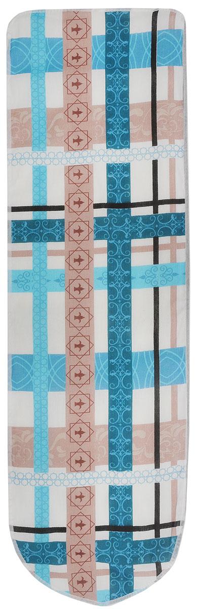 Чехол для гладильной доски Eva, с поролоном, цвет: бежевый, голубой, коричневый, 120 х 38 смЕ13*_бежевый, голубой, коричневыйЧехол для гладильной доски Eva выполнен из хлопчатобумажной ткани, с поролоновой подкладкой. Чехол предназначен для защиты или замены изношенного покрытия гладильной доски. Благодаря удобной системе фиксации легко крепится. Этот качественный чехол обеспечит вам легкое глажение. Размер чехла: 120 x 38 см. Максимальный размер доски: 112 x 32 см.