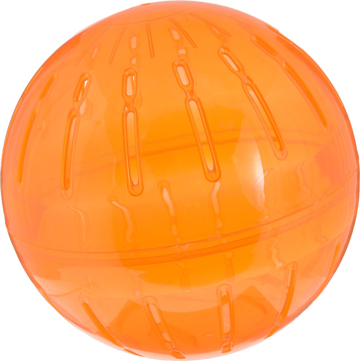 Игрушка для грызунов Triol  Шар прогулочный , цвет: оранжевый, диаметр 19 см - Игрушки