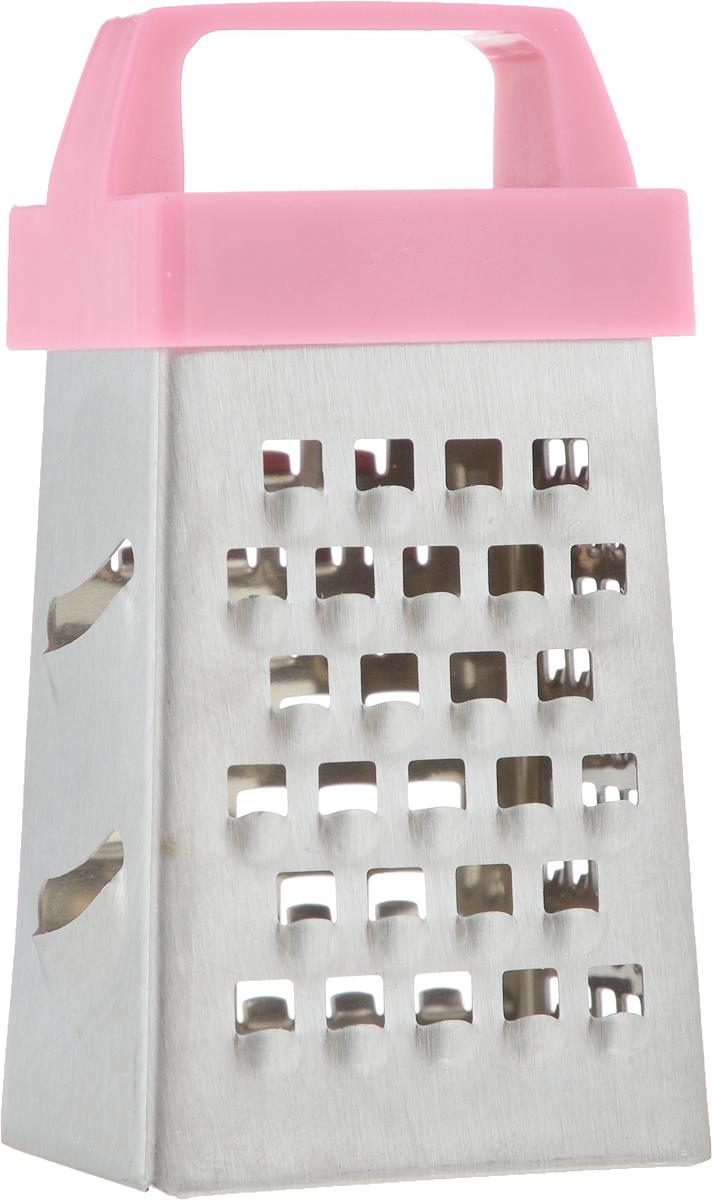 Терка Gipfel Minimi, четырехсторонняя, цвет: розовый, высота 6,35 см9843_розовыйТерка Gipfel Minimi - это маленькая терка, изготовленная из высококачественной нержавеющей стали с яркой пластиковой ручкой. Такая терка может пригодиться для измельчения мелких продуктов или же может использоваться в качестве элемента декора. Количество граней: 4.Высота: 6,35 см.