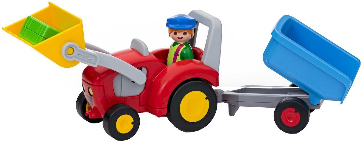 Playmobil Игровой набор Трактор с прицепом - Игровые наборы