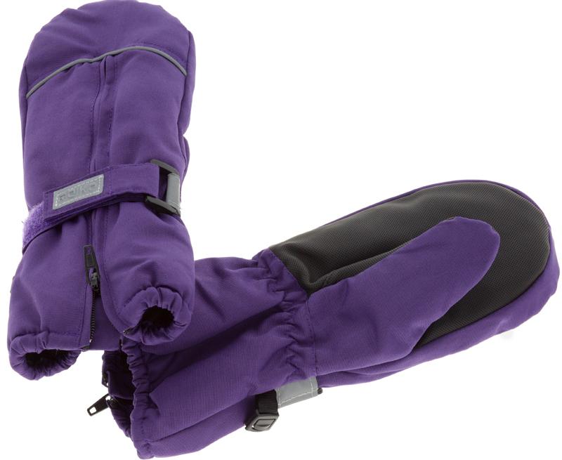Варежки для девочки Reike, цвет: фиолетовый. RW18_bs purple. Размер 8RW18_bs purpleВарежки Reike выполнены из ветрозащитной, водонепроницаемой и дышащей мембранной ткани на флисовой подкладке. Запястья дополнены резинкой, регулируемой липучкой и молнией для облегчения надевания. Ладони дополнительно усилены. Тыльная сторона варежек оформлена светоотражающими деталями.