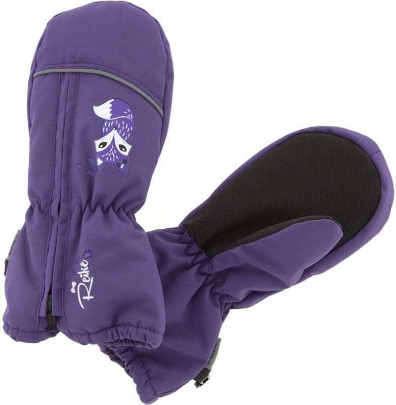Варежки для девочки Reike Умная Лиса, цвет: фиолетовый. RW18_SF purple. Размер 2RW18_SF purpleВарежки Reike Умная Лиса выполнены из ветрозащитной, водонепроницаемой и дышащей мембранной ткани, декорированной принтом в стиле коллекции. Мягкая подкладка из флиса обеспечивает дополнительный комфорт и тепло. Запястья оформлены резинкой, ладони дополнительно усилены. Тыльная сторона варежек оформлена светоотражающими деталями и молнией для облегчения надевания.