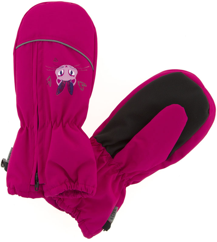 Варежки для девочки Reike Кошечки, цвет: фуксия. RW18_PRC1 fuchsia. Размер 6RW18_PRC1 fuchsiaВарежки Reike Кошечки выполнены из ветрозащитной, водонепроницаемой и дышащей мембранной ткани на флисовой подкладке. Тыльная сторона варежек декорирована принтом с изображением кошечки. Модель со светоотражающим кантом дополнена молнией для облегчения надевания. Запястья оформлены резинкой, ладони дополнительно усилены.