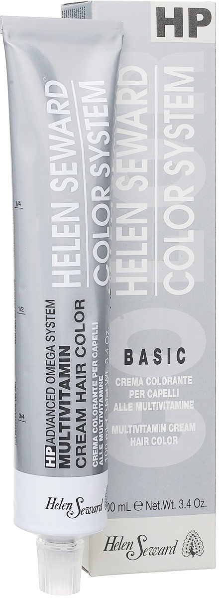 Helen Seward HP Color Пепельные оттенки Синий черный, 100 млC11Перманентная крем-краска — инновационная трехвалентная формула с мультивитаминами В5 и С для стойкого окрашивания, обеспечивает покрытие седины, блеск и мягкость волос.