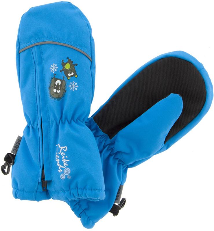 Варежки для мальчика Reike Веселые друзья, цвет: синий. RW18_FFF blue. Размер 2RW18_FFF blueВарежки Reike Веселые друзья выполнены из ветрозащитной, водонепроницаемой и дышащей мембранной ткани, декорированной принтом в стиле коллекции. Мягкая подкладка из флиса обеспечивает дополнительный комфорт и тепло. Запястья оформлены резинкой, ладони дополнительно усилены. Тыльная сторона варежек оформлена светоотражающими деталями и молнией для облегчения надевания.