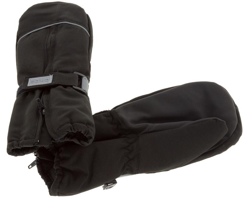 Варежки для мальчика Reike, цвет: черный. RW18_bs black. Размер 2RW18_bs blackВарежки Reike выполнены из ветрозащитной, водонепроницаемой и дышащей мембранной ткани на флисовой подкладке. Запястья дополнены резинкой, регулируемой липучкой и молнией для облегчения надевания. Ладони дополнительно усилены. Тыльная сторона варежек оформлена светоотражающими деталями.