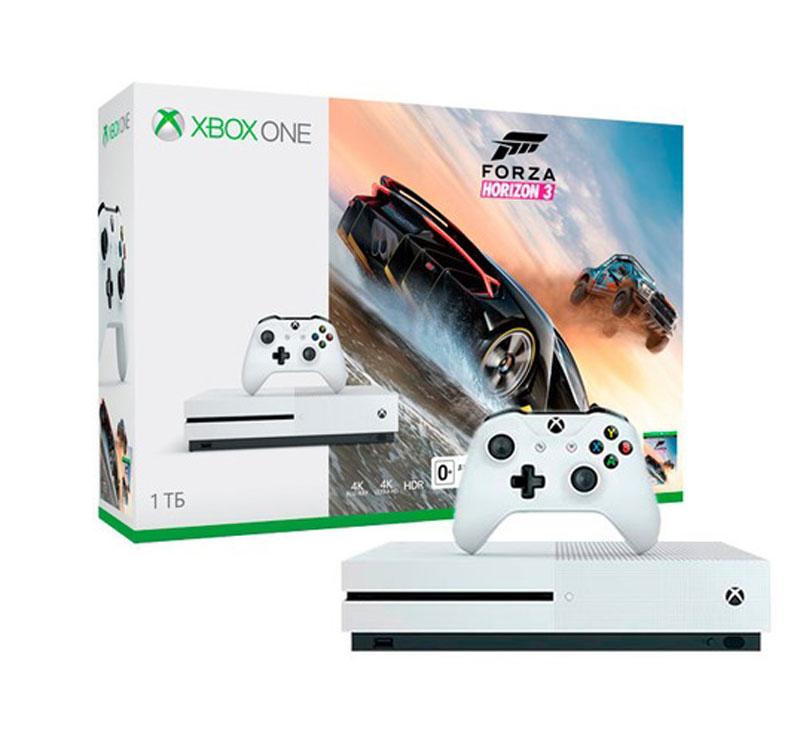 Игровая приставка Xbox One S 1 ТБ + Forza Horizon 3 - Игровые консоли