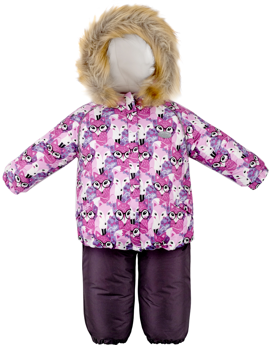 Комплект для девочки Reike Умная Лиса: куртка, полукомбинезон, цвет: фуксия. 39550105_SF fuchsia. Размер 8039550105_SF fuchsiaКомплект Reike, состоящий из куртки с ярким комбинированным принтом Умная лиса и однотонного полукомбинезона, обеспечивает комфорт и качественную защиту ребенка в зимние месяцы. Комплект выполнен из ветрозащитной и водонепроницаемой дышащей ткани с мембраной на хлопковом подкладе с комфортными велюровыми вставками в верхней части полукомбинезона, а также на воротнике, капюшоне и эластичных манжетах куртки. Куртка дополнена съемным регулирующимся капюшоном с опушкой из искусственного меха и светоотражающим помпоном в виде звезды, двумя карманами с клапанами и множеством безопасных светоотражающих деталей. Резинка внизу куртки и ветрозащитная планка вдоль молнии в виде рюши не допускают проникновения холодного воздуха. Эластичная талия полукомбинезона и регулируемые подтяжки гарантируют посадку по фигуре, длинная молния впереди облегчает процесс одевания. Полукомбинезон оснащен светоотражателем в виде логотипа Reike, боковым карманом на молнии и съемными штрипками. Базовый уровень. Коэффициент воздухопроницаемости куртки: 2000гр/м2/24 ч. Водоотталкивающее покрытие: 2000 мм.