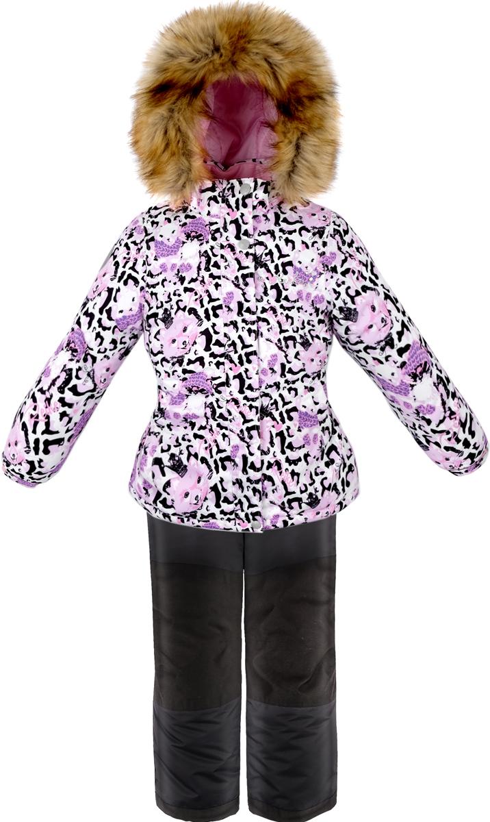 Комплект для девочки: куртка, полукомбинезон Reike, цвет: белый. 39775775_FE white. Размер 12839775775_FE white