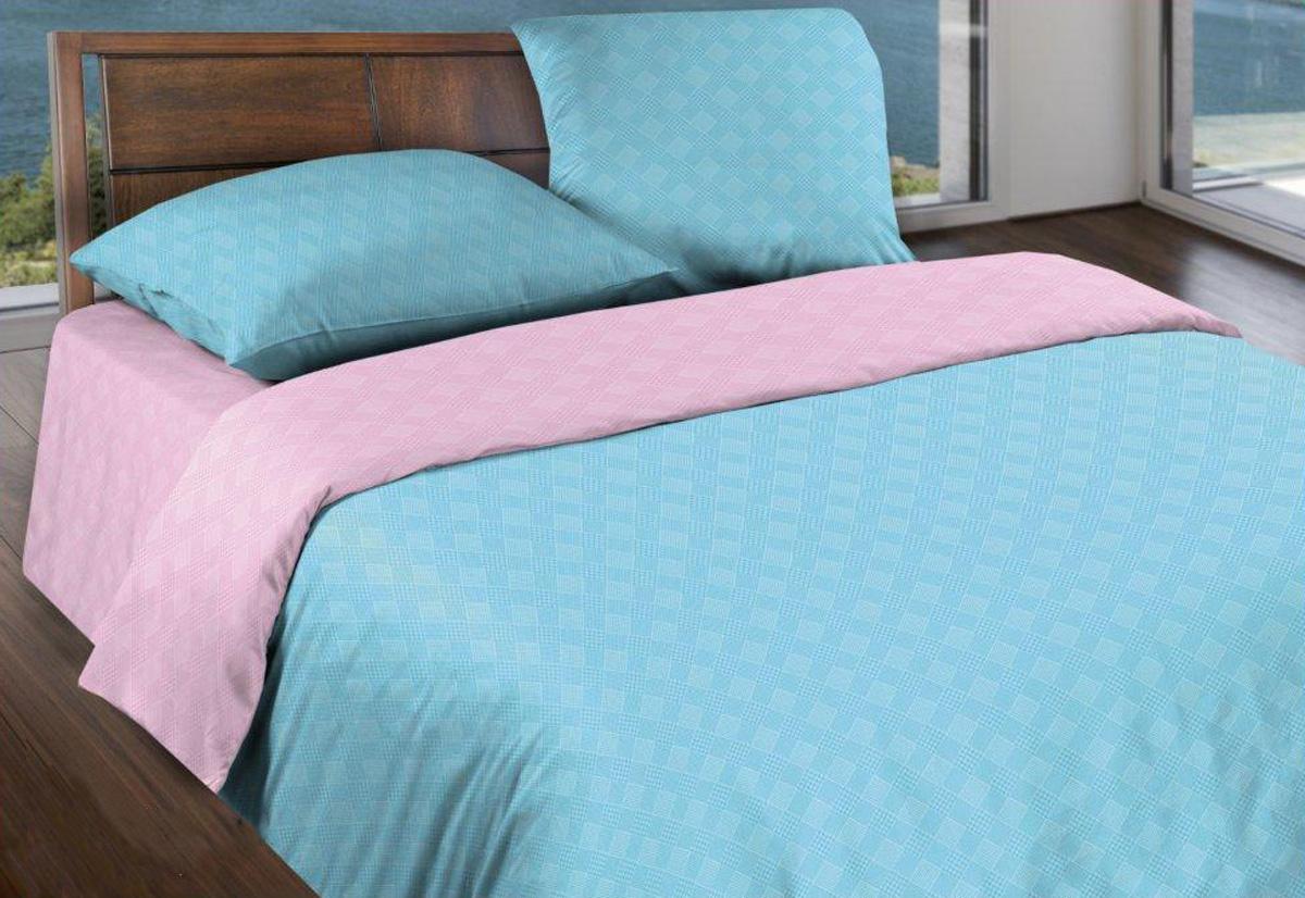 Комплект белья Wenge Лазурный рассвет, 1,5-спальный, наволочки 70x70, цвет: голубой443866