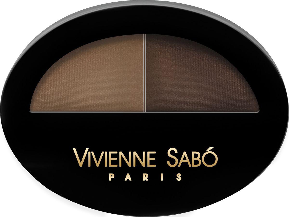 Vivienne Sabo Тени для бровей Brow Arcade, тон 1 двойные, 1,6 г vivienne sabo прозрачный фиксирующий гель для бровей и ресниц 6 мл