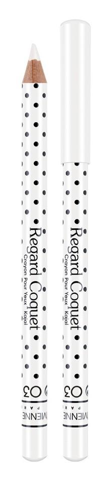 Vivienne Sabo Карандаш-каял для глаз Regard Coquet тон 03 белый, 0,8 гD215229603Карандаши-каялы Regard Coquet из коллекции могут служить прекрасным дополнением макияжу коллекции, а так же выступить соло. Великолепная бархатная текстура карандаша позволяет создать идеальную линию, как по ресничному контуру, так и по внутреннему краю века. Корпус карандаша одет в классический принт Vivienne Sabo - милый кокетливый горошек, что добавляет коллекции лёгкости и элегантности. Карнаубский и Канделильский воски - обеспечивает пластичность текстуры, легкость скольжения, придает пластичность и стойкость текстуре. Состав содержит активные антиоксиданты - витамины А и Е. Тона – светлые и темные – помогут правильно расставить акценты в выбранном образе.