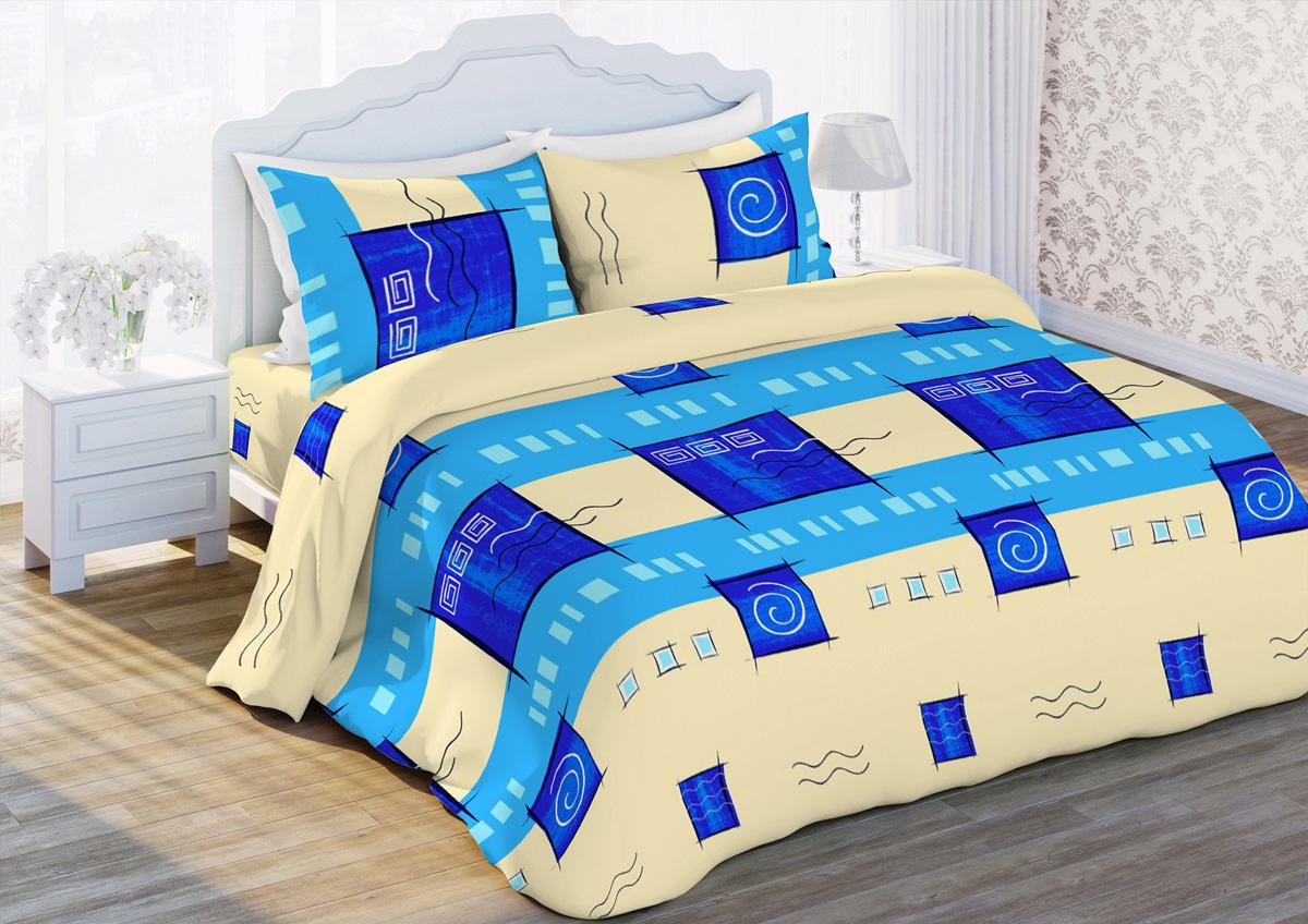 Комплект белья Любимый дом Дюна, 2-спальный, наволочки 70x70, цвет: бежевый327651