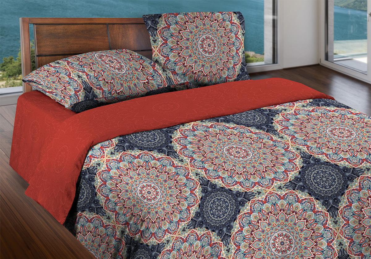 Комплект белья Wenge Orly, евро, наволочки 70x70, цвет: красный327704