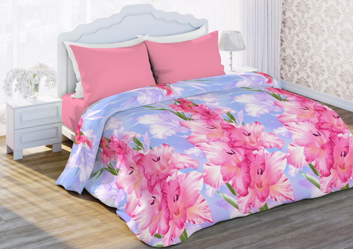 Комплект белья Любимый дом Гладиолусы, 2-спальный, наволочки 70x70, цвет: розовый341368Комплект постельного белья Любимый дом является экологическибезопасным для всей семьи, так как выполнен из бязи (100% хлопка).Комплект состоит из пододеяльника, простыни и двух наволочек. Постельноебелье оформлено оригинальным рисунком и имеет изысканный внешний вид.Бязь - это ткань полотняного переплетения, изготовленная из экологическичистого и натурального хлопка. Она прочная, мягкая, обладает низкойсминаемостью, легко стирается и хорошо гладится. Бязь прекрасно пропускаетвоздух и за ней легко ухаживать. Приобретая комплект постельного белья Любимый дом, вы можете бытьуверены в том, что покупка доставит вам и вашим близким удовольствие иподарит максимальный комфорт.