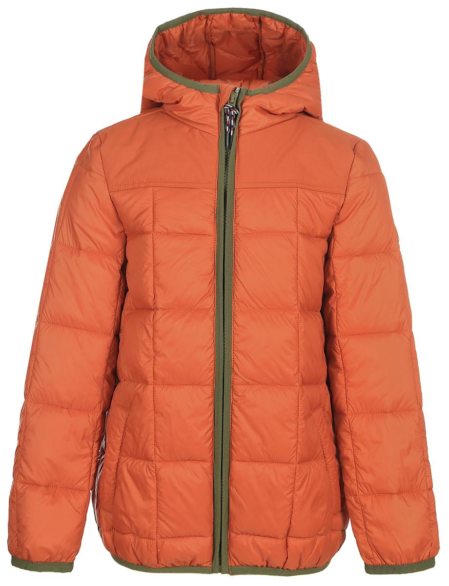 Куртка для мальчика Tom Tailor, цвет: оранжевый. 3533393.00.30_3454. Размер 1643533393.00.30_3454Стильная куртка для мальчика Tom Tailor изготовлена из полиамида. Подкладка выполнена из полиэстера. В качестве утеплителя используется синтепон. Куртка с капюшоном застегивается на застежку- молнию и дополнительно имеет защиту подбородка и внутреннюю ветрозащитную планку. Изделие дополнено спереди двумя прорезными карманами на застежках-молниях. Низ модели и рукава дополнены эластичной резинкой.