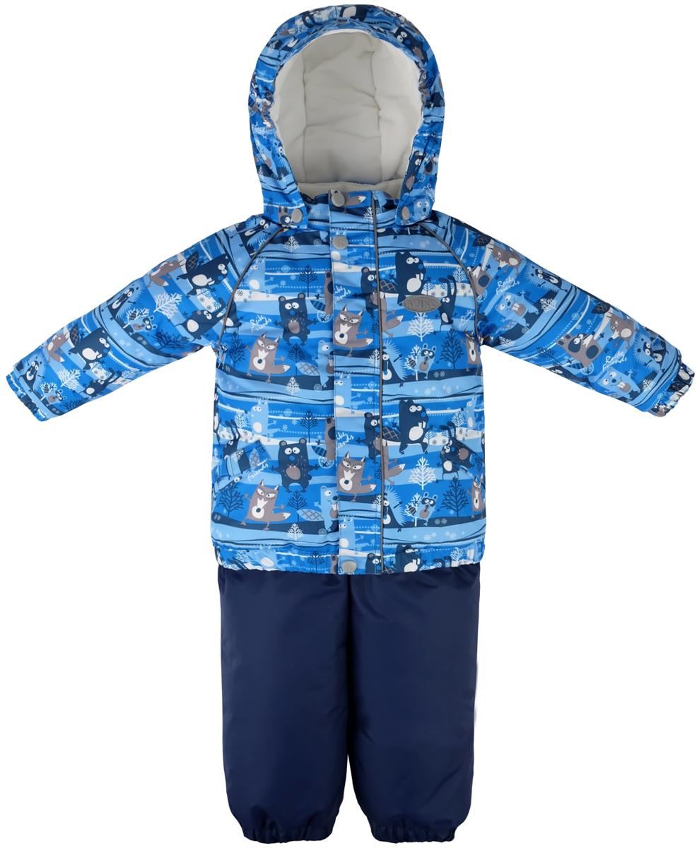 Комплект для мальчика Reike Веселые друзья: куртка, полукомбинезон, цвет: синий. 39520105_FFF blue. Размер 8039520105_FFF blueКомплект Reike Веселые друзья, состоящий из куртки с ярким комбинированным принтом и однотонного полукомбинезона, обеспечивает комфорт и качественную защиту ребенка в зимние месяцы. Выполнен из ветрозащитной и водонепроницаемой дышащей ткани с мембраной на хлопковом подкладе с комфортными велюровыми вставками в верхней части полукомбинезона, а также на воротнике и эластичных манжетах куртки. Куртка дополнена съемным регулирующимся капюшоном с козырьком, двумя карманами с клапанами и множеством безопасных светоотражающих деталей. Резинка внизу куртки, а также ветрозащитные планки на кнопках и липучках вдоль молнии, не допускают проникновения холодного воздуха. Эластичная талия полукомбинезона и регулируемые подтяжки гарантируют удобную посадку по фигуре, длинная молния впереди облегчает процесс одевания. Полукомбинезон оснащен светоотражателем в виде логотипа Reike, боковым карманом на молнии и съемными штрипками.Базовый уровень.Коэффициент воздухопроницаемости комбинезона: 2000гр/м2/24 ч.Водоотталкивающее покрытие: 2000 мм.