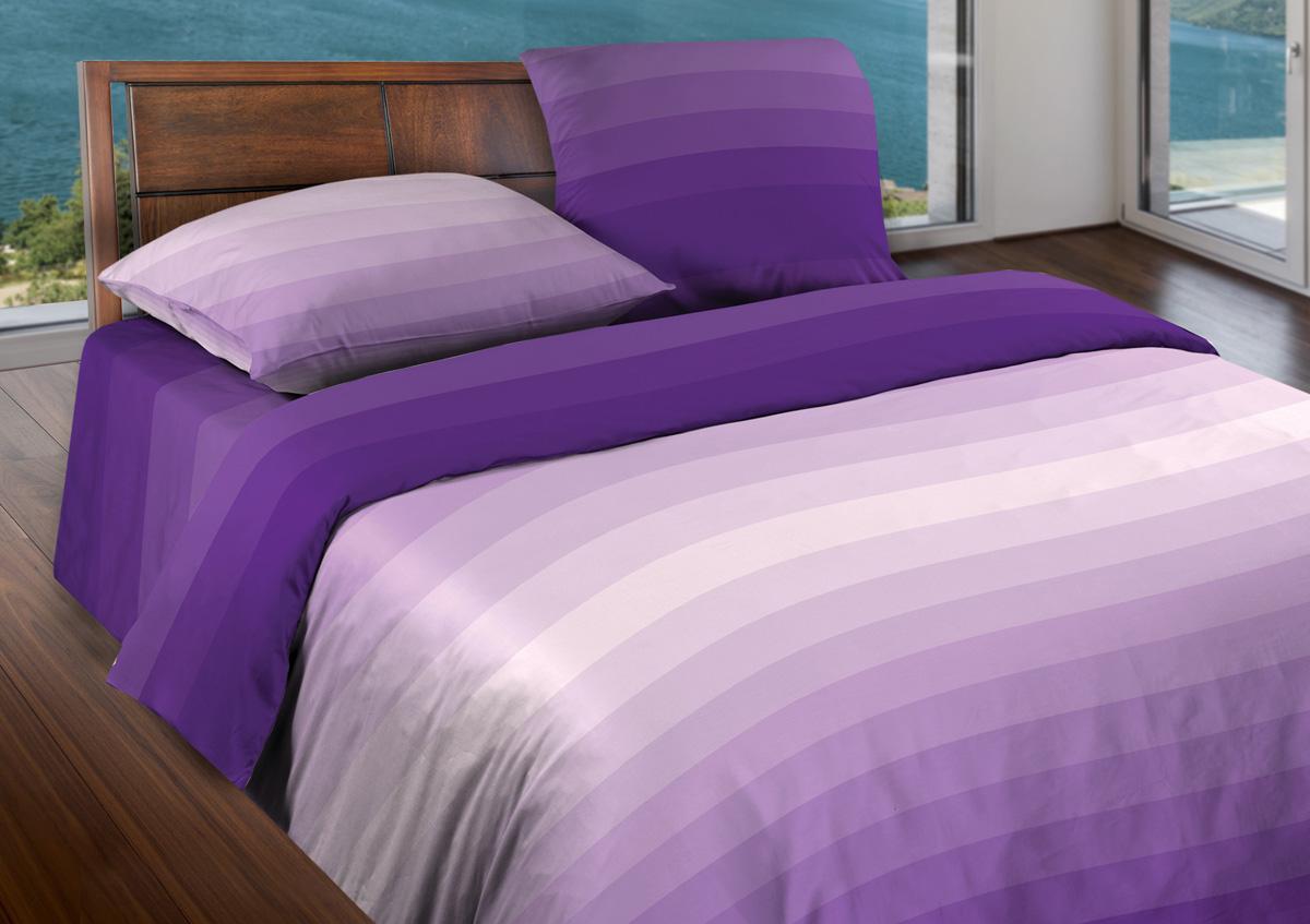Комплект белья Wenge Flow Violet, 2-спальный, наволочки 70x70, цвет: сиреневый361839