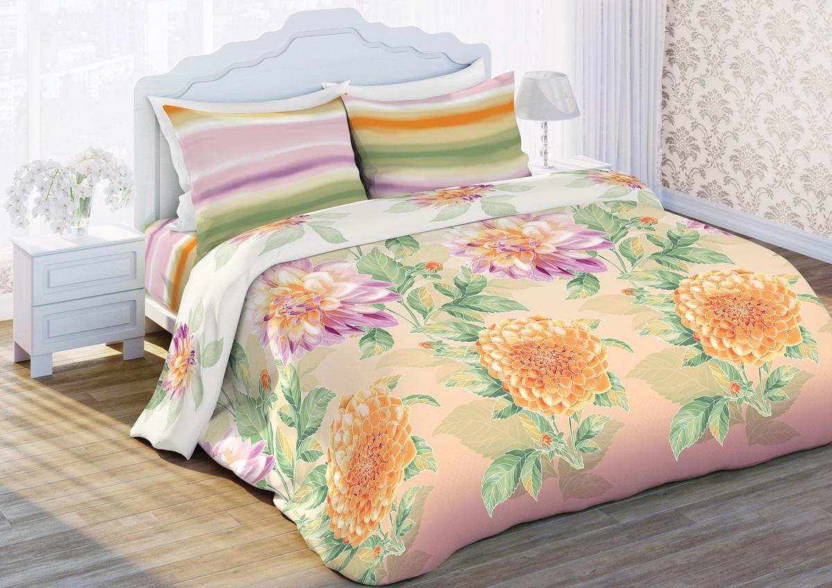 Комплект белья Любимый дом Батик, 1,5-спальный, наволочки 70x70, цвет: бежевый365849