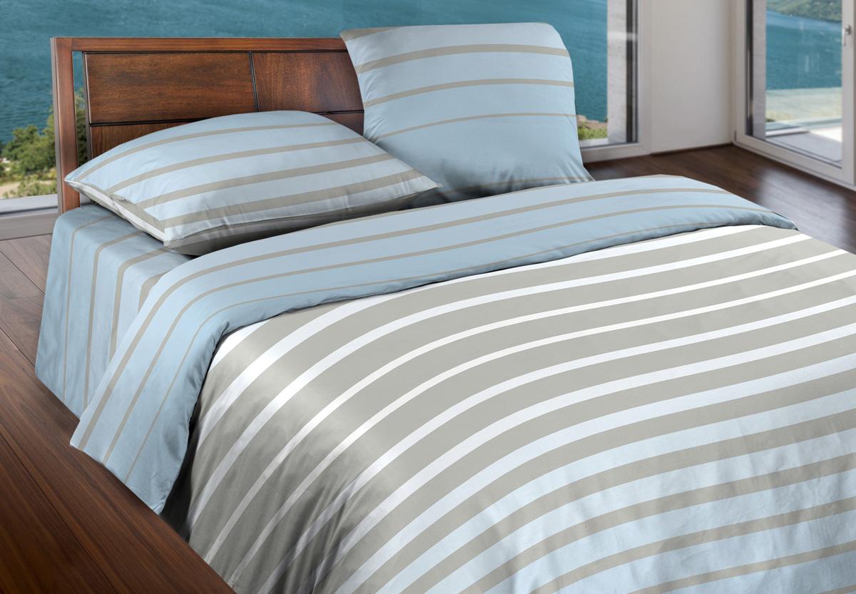 Комплект белья Wenge Stripe Breeze, 1,5-спальный, наволочки 70x70, цвет: серый366577