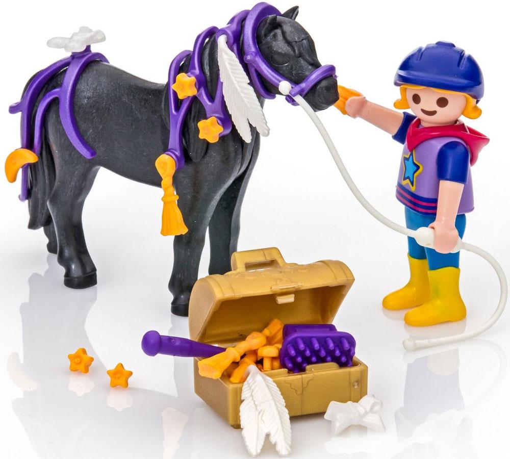 Playmobil Игровой набор Конюх с Пони Звездочка игровой набор playmobil ферма пони пикник с коневозкой