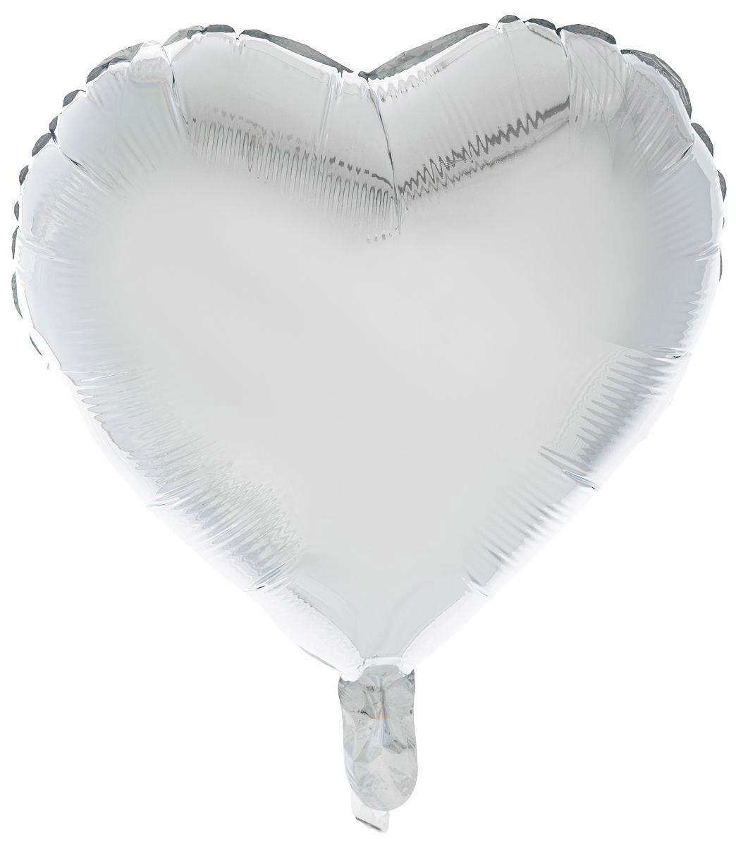Sima-land Воздушный шарик Сердце 18 цвет серебристый -  Воздушные шарики