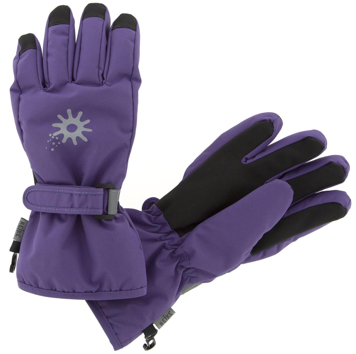 Перчатки для девочки Reike Зимние звезды, цвет: фиолетовый. RW18_WSR purple. Размер 8 перчатки reike