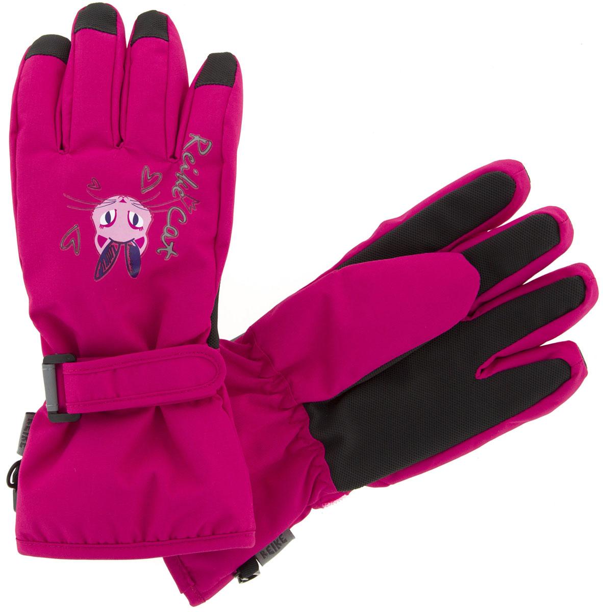Перчатки для девочки Reike Кошечки, цвет: фуксия. RW18_PRC2 fuchsia. Размер 6 перчатки reike