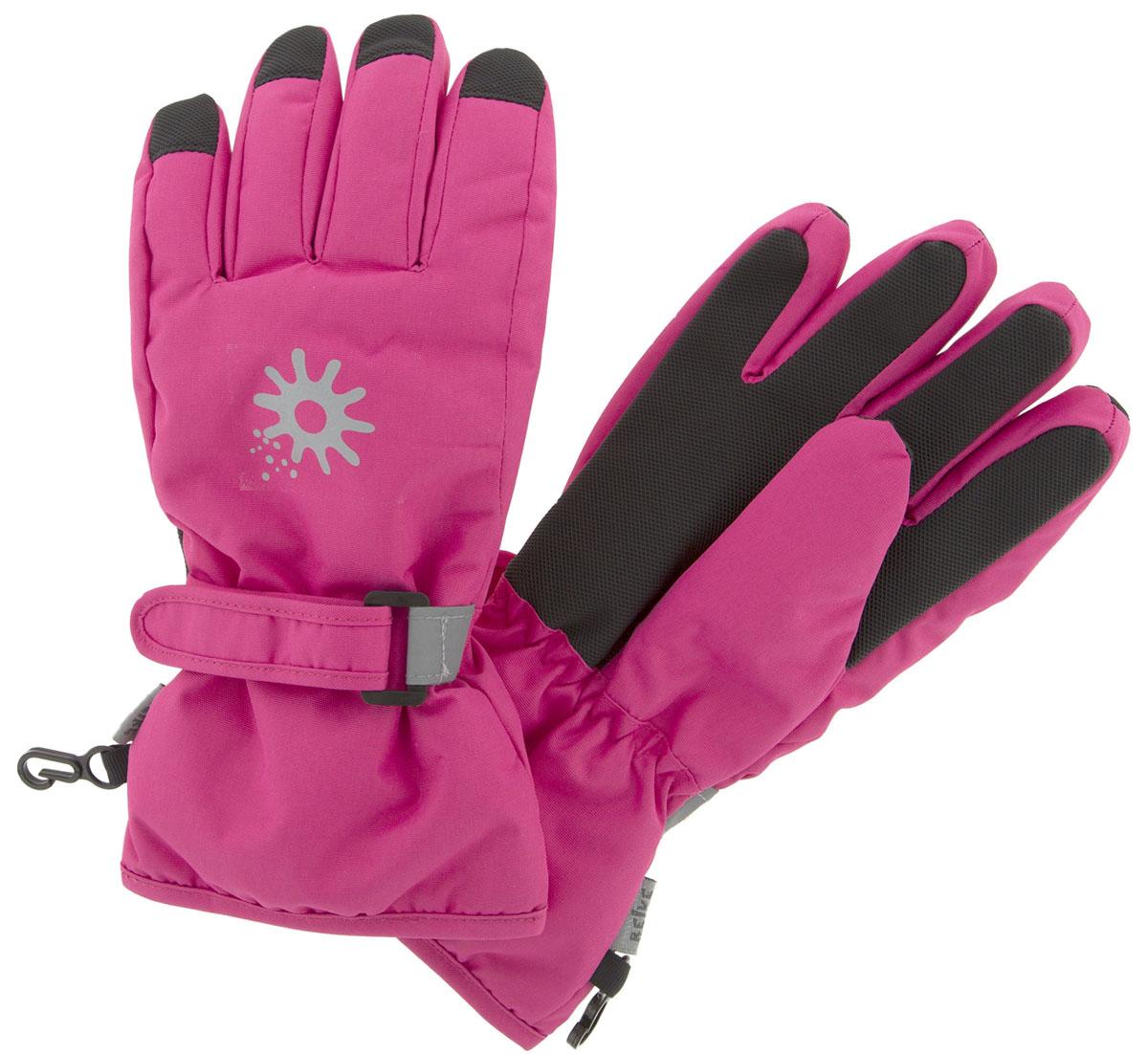Перчатки для девочки Reike Зимние звезды, цвет: фуксия. RW18_WSR fuchsia. Размер 8 перчатки reike