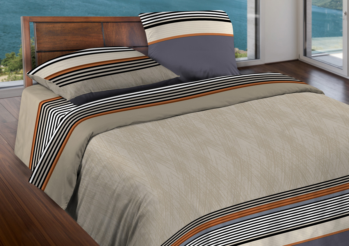 Комплект белья Wenge Simple, 1,5-спальный, наволочки 70x70, цвет: бежевый411728