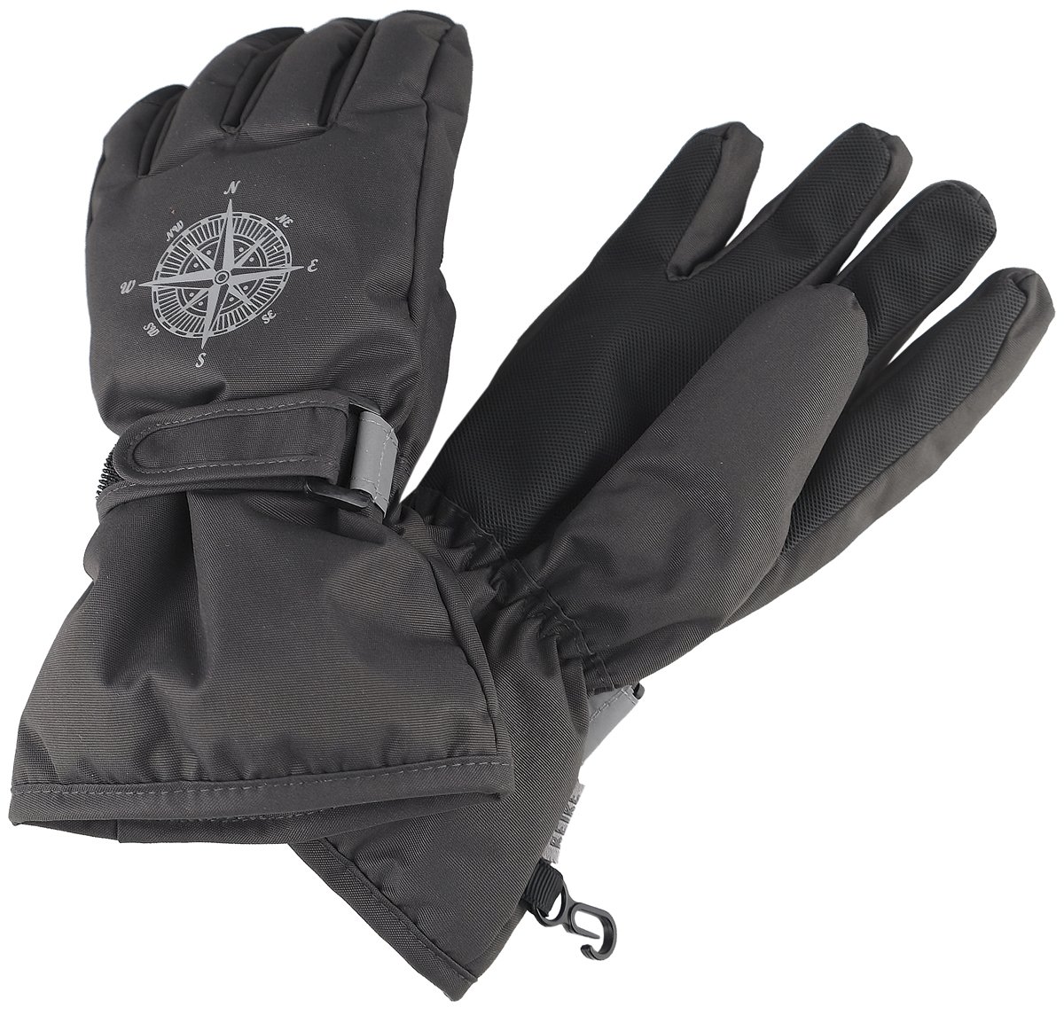 Перчатки для мальчика Reike, цвет: серый. RW18_MP grey. Размер 8 перчатки reike