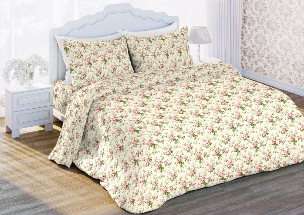 Комплект белья Флоранс Сады Прованса, 1,5-спальный, наволочки 70x70, цвет: бежевый412870
