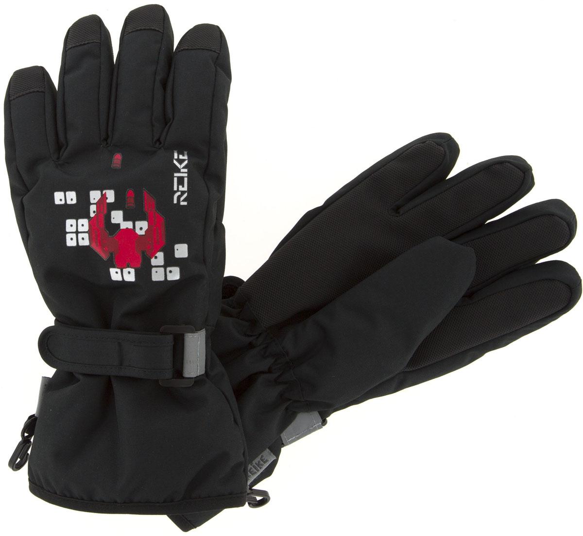 Перчатки для мальчиков Reike, цвет: черный. RW18_GLX black. Размер 8RW18_GLX black