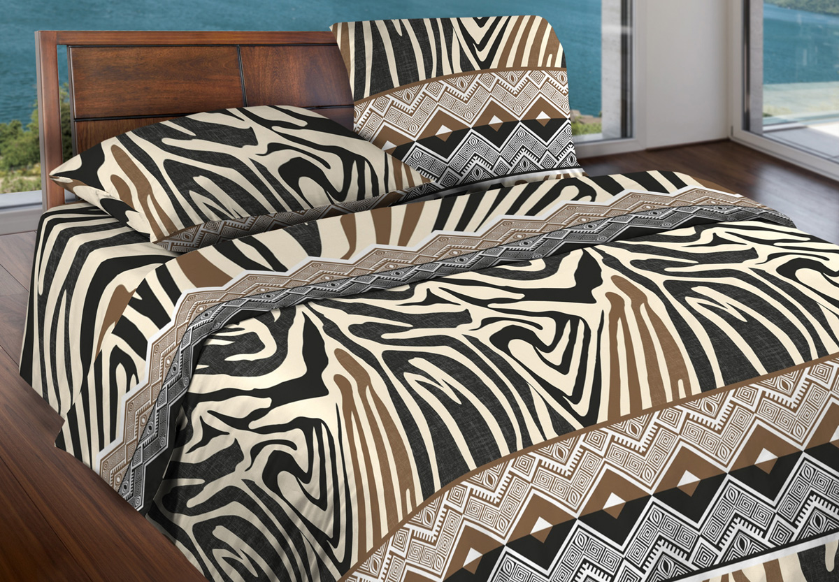 Комплект белья Wenge Tanga, 1,5-спальный, наволочки 70x70, цвет: коричневый комплекты белья linse комплект белья