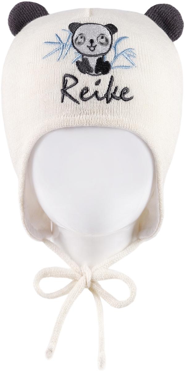 Шапка детская Reike Панда, цвет: белый. RKN1718-1_PND white. Размер 48 перчатки reike