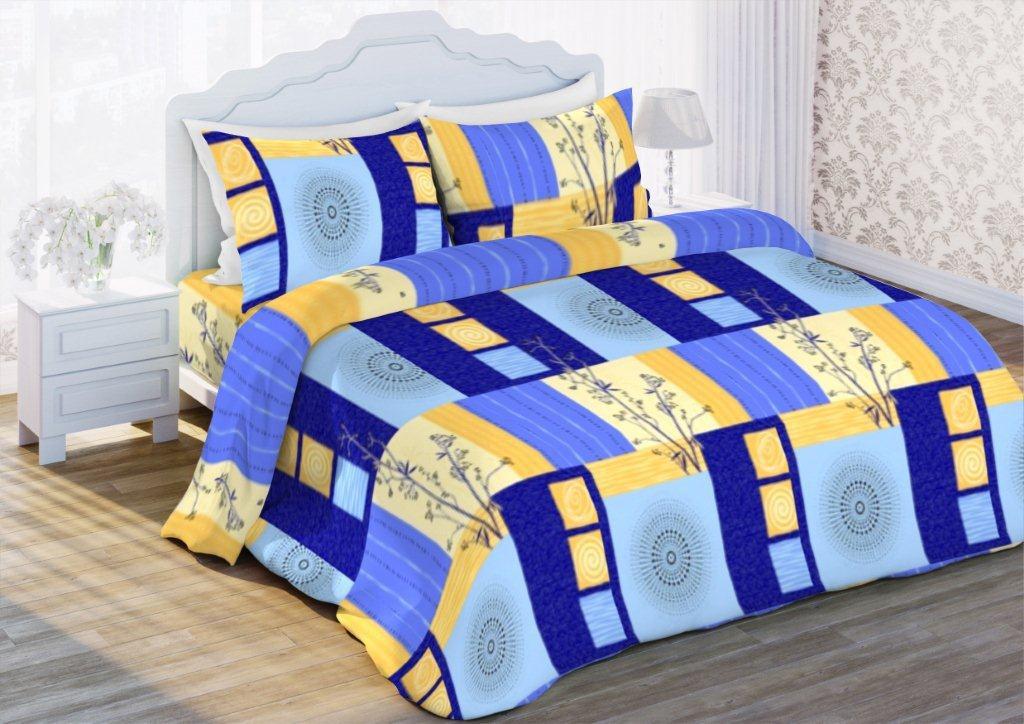 Комплект белья Флоранс Мечты, 1,5-спальный, наволочки 70x70, цвет: синий431894