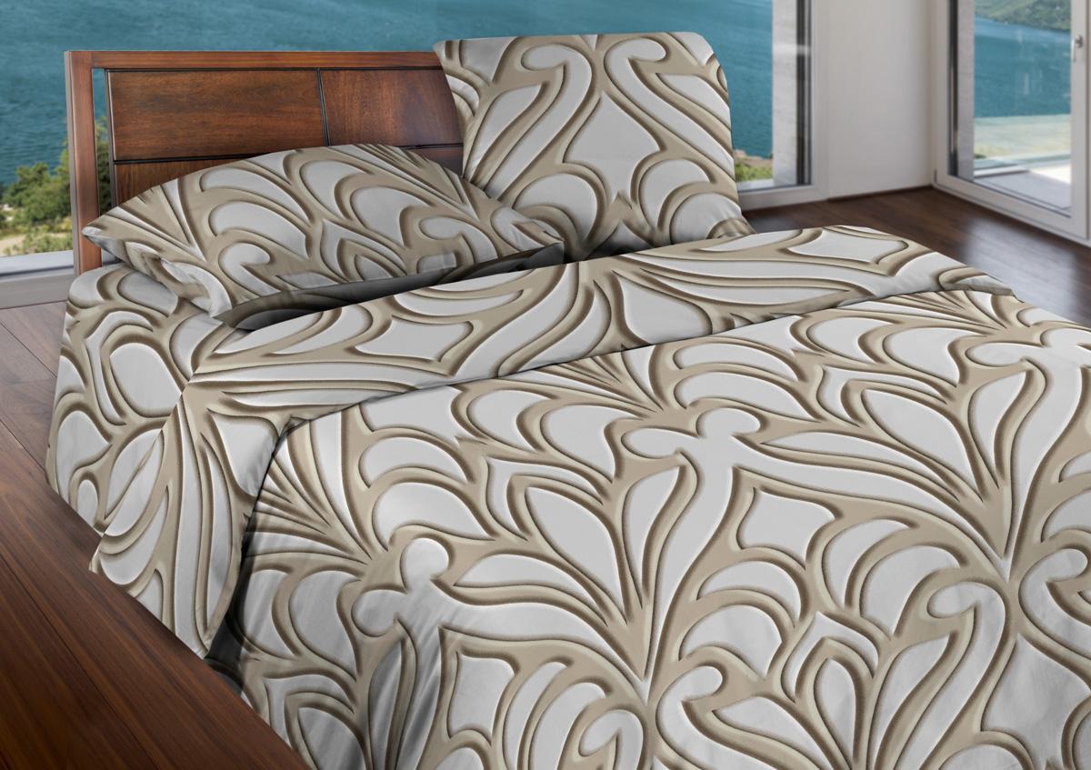 Комплект белья Wenge Eccentric, 2-спальный, наволочки 70x70, цвет: бежевый436964