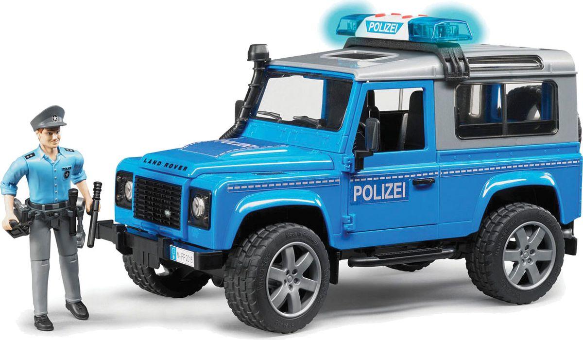 Bruder Внедорожник Land Rover Defender Station Wagon Полицейский с фигуркой - Транспорт, машинки
