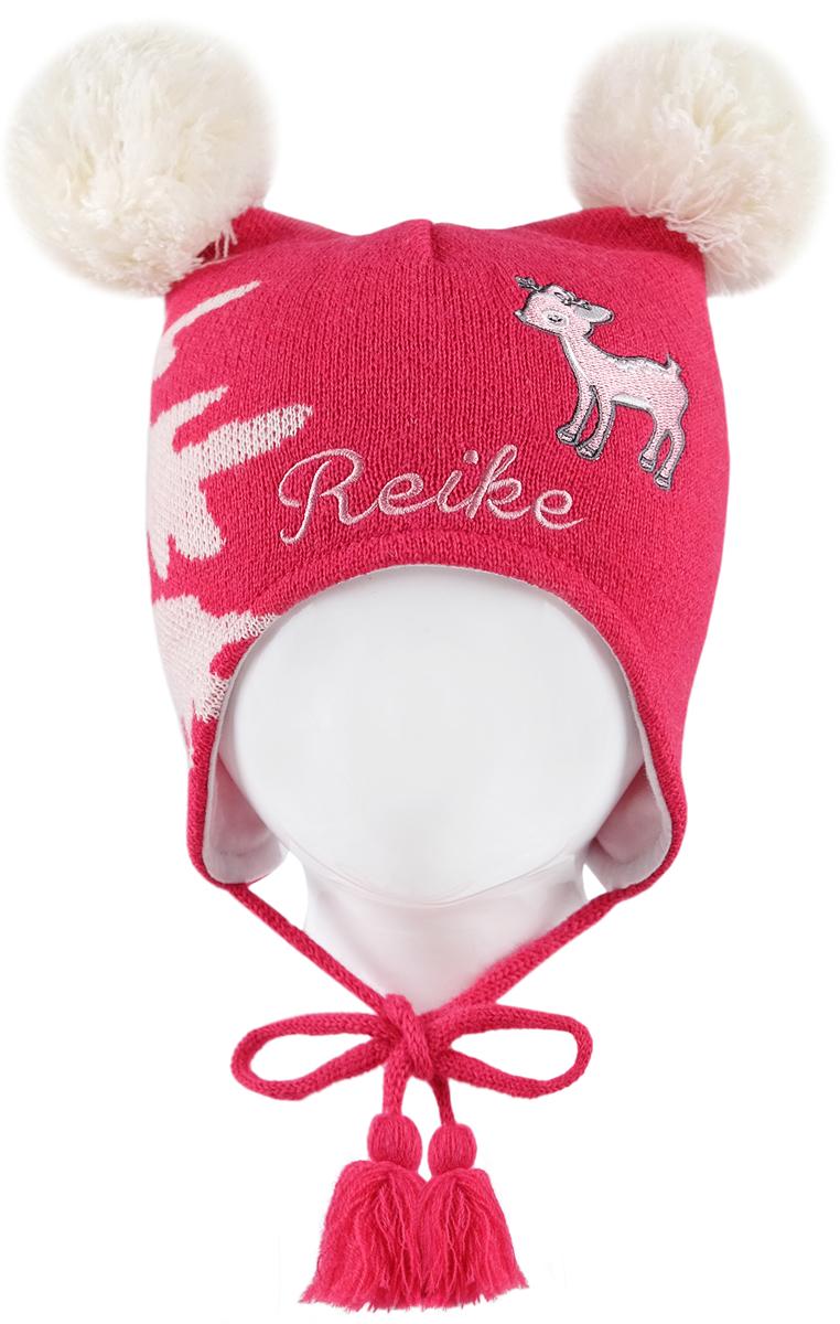 Шапка для девочек Reike, цвет: красный. RKN1718-1_DR berry. Размер 50RKN1718-1_DR berry