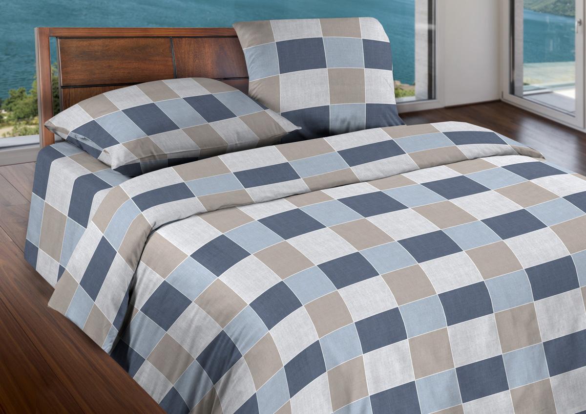 Комплект белья Wenge Style, евро, наволочки 70x70, цвет: серый441696