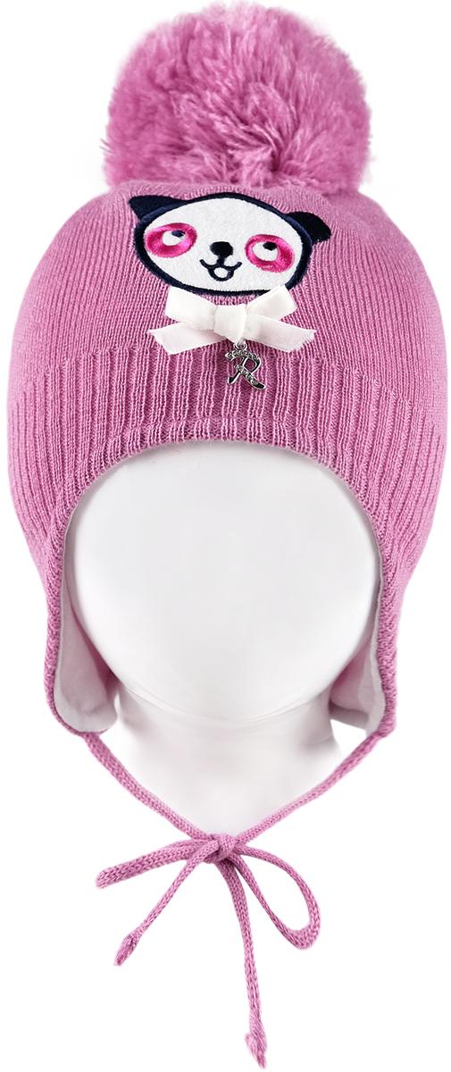 Шапка для девочки Reike Панда, цвет: розовый. RKN1718-3_PND pink. Размер 44RKN1718-3_PND pinkШапка на завязках Reike Панда изготовлена из высококачественного материала на основе шерсти и акрила. Модель с хлопковой подкладкой дополнительно утеплена на ушках. Шапочка с объемным помпоном на макушке украшена вышивкой панды и декорирована объемным бантом с металлической серебристой подвеской в форме буквы R. С левой стороны изделие оформлено вышивкой логотипа Reike.Уважаемые клиенты!Размер, доступный для заказа, является обхватом головы.