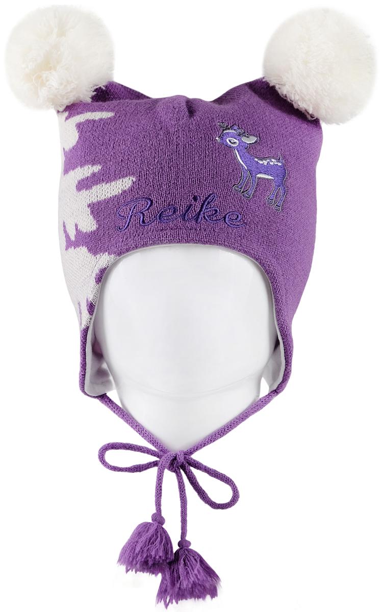 Шапка для девочек Reike, цвет: фиолетовый. RKN1718-1_DR purple. Размер 50RKN1718-1_DR purple