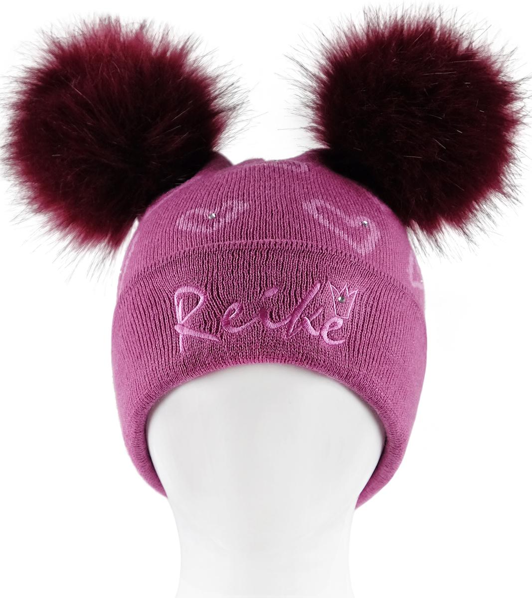 Шапка для девочек Reike, цвет: фуксия. RKN1718-2_PRC fuchsia. Размер 52RKN1718-2_PRC fuchsia
